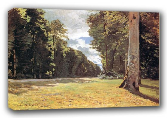 Monet, Claude: The Pave de Chailly in the Fontainebleau Forest. Fine Art Landscape Canvas. Sizes: A3/A2/A1 (00770)